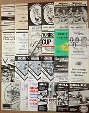 Hull Rugby League Programmes 1960 - 1991