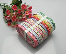 "20yards 3/8"" mixed 10 Style sewing satin grosgrain ribbon lot wholesale - A 30p"