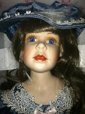 Vintage Design Debut , Heather 18 in MIB Porcelain Doll 21' high, new