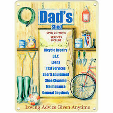 Dad Daddy Grandad Wooden Plaque Sign Metal Shed Garage Fathers Day Gift Present