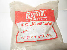 "Capitol Insulating Dielectric Union  1/2"" F IP  x  1/2 "" copper sweat   Lot of 2"