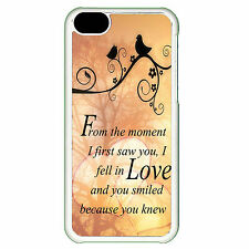 Cover for Iphone 5C Love birds romantic cute saying phrase quote art Phone case