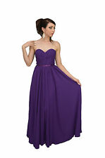 Simple Long Formal Dress Strapless Chiffon Pleated Plus Size Bridesmaid Corset