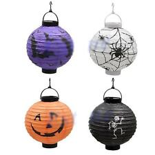 Cute Hanging Pumpkin Paper Lantern DIY Decor Lamp Halloween Holiday Party Light