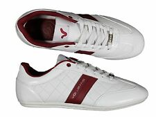 MENS VOI JEANS WINCHESTER WHITE QUILT SHINY TRAINERS FOOTWEAR ALL SIZES 6 - 12