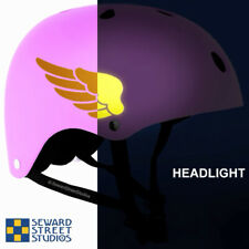 Hyper Reflective Wings Decal Bike/Motorcycle Helmet Safety Decal Set #684R