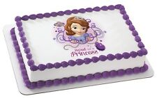 Princess Sofia The 1st ~ Frosting Sheet Cake Topper ~ Edible Image ~ D20166