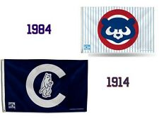 New NIP Chicago Cubs Cooperstown Collection 3 x 5 Foot Banner Flag 1984 1914