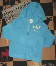 NWT ABERCROMBIE KIDS TURQUOISE HOODIE - SIZE SMALL OR MEDIUM