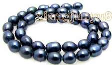 "SALE Big 7-8mm Natural Black Freshwater rice Pearl Loose Beads 14""-los460"