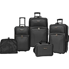 Traveler's Choice Versatile 5-Piece Luggage Set 2 Colors