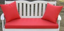 """43"""" X 18"""" Cushion Pillow Set for Swing Bench Glider - Choose Solid Colors"""