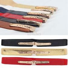 Stylish Metal Buckle Womens Elastic Stretch Waist Belt Girls Corset Waistband