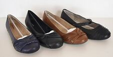 Womens Cloudwalkers Black Brown Blue Ballet Flats Size 13W New In Box