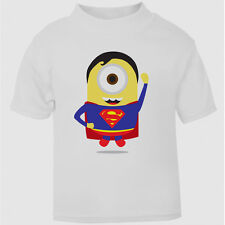 Superman Minion hero t-shirt comic superhero kids tshirt Despicable Me Minions