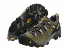 Keen Footwear Utility Mens DETROIT LOW ESD Black/Green Soft Toe Shoes 1007013
