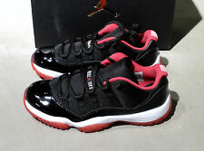 Nike Air Jordan 11 XI Low Bred 528895 012 and TD, PS, GS Sizes .Sizes 4C to 15.