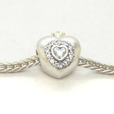 Authentic Genuine S925 Silver / Gold Charm Princess Heart charm
