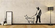 Banksy Wall art sticker Barking Dog  X Large