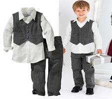 Kids Page Boy Formal Waistcoat Set, Wedding Party Christening Pageant 1 2 3 4 56