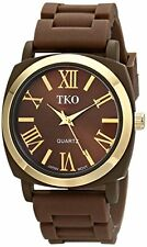 TKO ORLOGI Milano Silicone Strap Women's Watch Brown GrayTK641 Sport