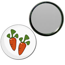 Carrots - Round Compact Glass Mirror 55mm/77mm BadgeBeast