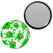 Skull Bow Pattern 2 - Round Compact Glass Mirror 55mm/77mm BadgeBeast
