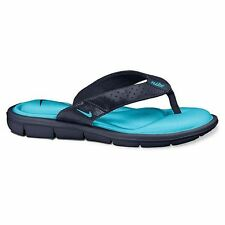Sale! Authentic Nike Womens Comfort Flip Flops,Memory Foam,Turquoize-Navy W7 8 9