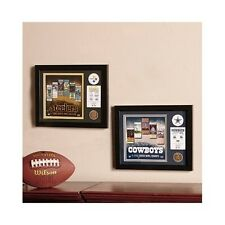 Sports Memorabilia Limited Edition Super Bowl Plaque NFL Replica Coins Tickets