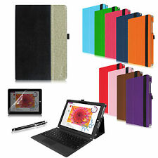 Folio Case PU Leather Cover Protector for Microsoft Windows Surface 3 10.8-inch