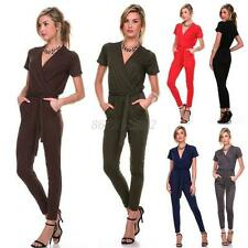 Sexy Women Cocktail Evening Club Party V Neck Soft Jumpsuit Romper Pants  B58