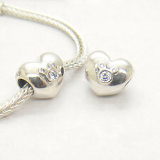 New Authentic Genuine S925 Silver HEART OF MICKEY CHARM Bead