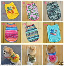 Free Shipping Summer Pet Puppy Shirt Small Dog Pet Clothes Vest T Shirt 7 Types