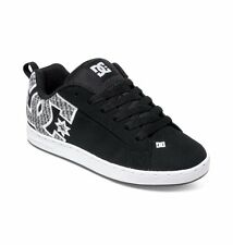 DC Shoes Women's Court Graffik SE Shoes - Black/Armor/Flannel (Baf)