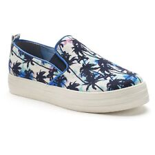 NIB Women's Juicy Couture NICKY Palm Tree Slip-On Sneakers Shoes