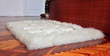 SUPER SOFT 100% ALPACA LLAMA FUR LUXURY HANDMADE RUG CARPET ECUADOR