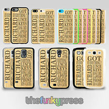 Personalised Custom Text Check List Phone Case Cover for Galaxy & iPhone Series