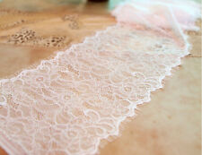 3yards Eyelash Lace trim ,DIY lace strip ,lace ribbon,white Chantilly lace -3016