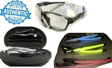 Oakley Crosslink Sweep 55mm Satin Black Frame/blue Glasses Factory Box & Case