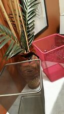 "NEW 14"" Tall Pink Dokument Trash Can / Wastebasket For Office, Dorm Room, Home"