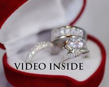 Luxury 3 Wedding Ring Set Engagement Diamond Ring Fine 22KT S. Made in Italy d g