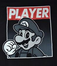 Super Mario Brothers Nintendo PLAYER Mario Officially Licensed T-Shirt Tee