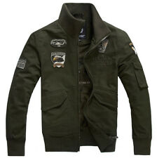 New Men's Classic Military Style Wind Jacket Field Jacket Cotton Jacket Coat