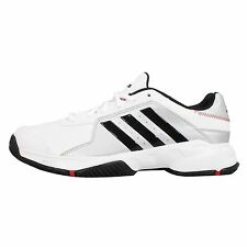 Adidas Performance Barricade Court White Black Mens Tennis Shoes Sneakers