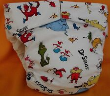 All In One Adult Baby Reusable Cloth Diaper S,M,L,XL Dr. Seuss