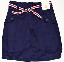 NEW GYMBOREE Uniform Shop Girls Navy Blue Belted Skirt Skort 5 7 8 LAST SIZES