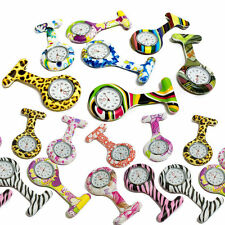 Nurses Medical Tunic Pocket Brooch Fob Watch colour design silicone watches