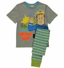 NWOT BOYS LICENSED FIREMAN SAM PYJAMAS TOP SHIRT PANT SLEEPWEAR MANY SIZES