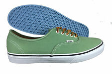 VANS. Authentic Brushed Twill. Green. Leather Laces. Mens US Size 11.5