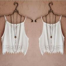 Fashion Sexy Women Lady Summer Sleeveless Camisole Casual Crop Blouse Tops Shirt